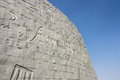 Outer wall of the Library of Alexandria, Egypt Royalty Free Stock Photo