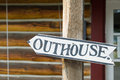 Outhouse sign Stock Photo