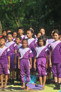 Outing class student children sing during the to the city park in solo indonesia Stock Photos