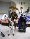 Outlaw art in paper mache in the museum of the holy dead santa muerte in mexico city Royalty Free Stock Images