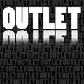 Outlet label Stock Image