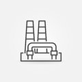 Outline geothermal power plant icon