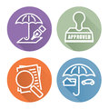 Outline Home and Auto Insurance Icons