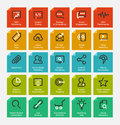 Outline icon set vector illustration eps Royalty Free Stock Photography