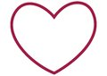Outline of large red heart