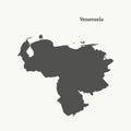 stock image of  Outline map of Venezuela. illustration.