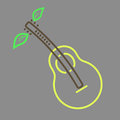 Outline pear guitar icon