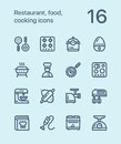 Outline Restaurant, food, cooking icons for web and mobile design pack 3