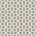 Outline seamless pattern with abstract ornament. Ethnic motif. Repeated geometric figures wallpaper. Modern surface Royalty Free Stock Photo