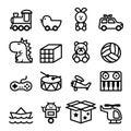 Outline Toy icon set Royalty Free Stock Photo