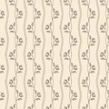 Outline vintage seamless beige pattern with flower