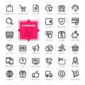 Outline web icons set - E-commerce Royalty Free Stock Photo