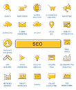 Outline web icons set - SEO.