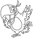 Outlined dancing parrot