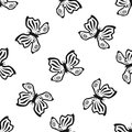 Outlines Of Butterflies Drawn ...