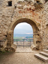 Outlook from ruined Spissky Castle Royalty Free Stock Photo