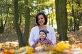 Outono do filho da mãe Imagens de Stock Royalty Free