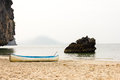 Outrigger canoe on the beach Royalty Free Stock Photo