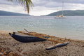 Outrigger Canoe - Efate Island Royalty Free Stock Photo
