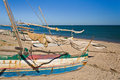 Outrigger canoes Royalty Free Stock Photo