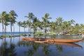 Outrigger Hawaiian Canoe Royalty Free Stock Photo