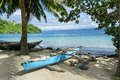 Outrigger on Kioa Island Royalty Free Stock Photo