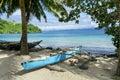 Outrigger on Kioa Island Royalty Free Stock Photo