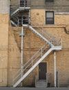 Outside alley fire escape Stock Photo
