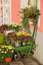 Outside florist shop a autumn still life Royalty Free Stock Photos