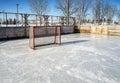 Outside hockey rink Royalty Free Stock Photo
