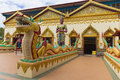 Outside the wat chaiya mangkalaram thai buddhist temple in penang malaysia Stock Image