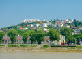 Outskirts of bratislava slovakia view from danube Royalty Free Stock Photo