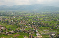 Outskirts of kathmandu view from the airplane on the Royalty Free Stock Images