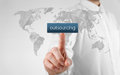 Outsourcing concept globalization and global business strategy source map by nasa Stock Photos