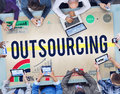 Outsourcing Recruitment Human Resource Hiring Concept Royalty Free Stock Photo