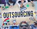 Outsourcing Recruitment Human Resource Hiring Concept