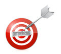 Outsourcing on the target illustration design over a white background Stock Photo