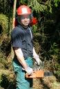 Ouvrier de sylviculture Photos stock