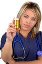 Ouvrier et médecine médicaux Image stock