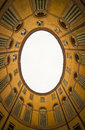 Oval building in Ferrara, bottom view, Italy Royalty Free Stock Photo