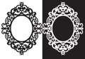 Oval frame ornament illustration vector Stock Image