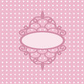 Oval frame with an ornament vector pink vector openwork openwork on a pink background dots Royalty Free Stock Photos