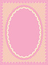 Oval Frame of Victorian Eyelet on Heart Trimmed St Royalty Free Stock Photography