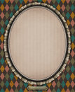 Oval with frame