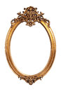 Oval gold vintage frame Royalty Free Stock Photo