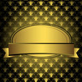 Oval golden frame Royalty Free Stock Photo