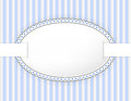 Oval label with dotted frame and band Royalty Free Stock Photography