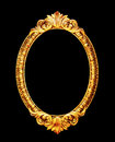 Oval old mirror frame isolated Royalty Free Stock Photo