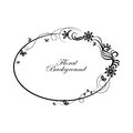 Oval simple ornamental frame Royalty Free Stock Photo