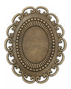 Oval vintage brass frame Royalty Free Stock Image